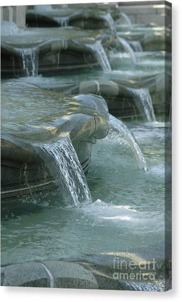 Cascading Fountain Canvas Print