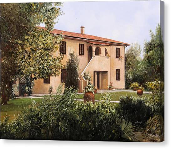 Wine Country Canvas Print - Cascina Toscana by Guido Borelli