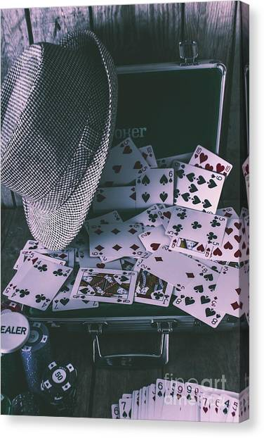 Wager Canvas Print - Case Of A Gambling Pro  by Jorgo Photography - Wall Art Gallery
