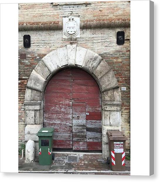 Portal Canvas Print - Caserma Guelfa  Located Along The by Adriano La Naia