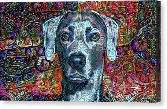 Cash The Blue Lacy Dog Canvas Print