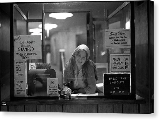 Cashier, Devon Theatre, 1979 Canvas Print