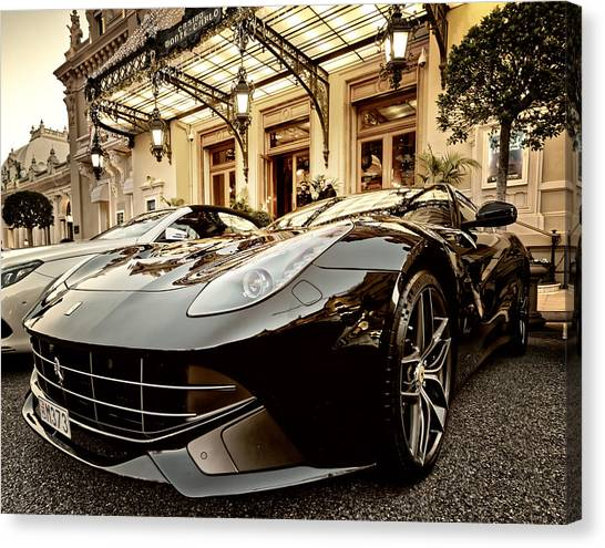 Casino Monte Carlo Vip Parking Canvas Print