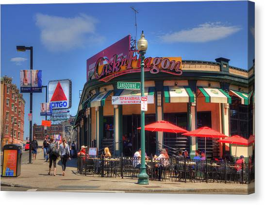 Fenway Park Canvas Print - Cask'n Flagon And The Citgo Sign - Boston by Joann Vitali
