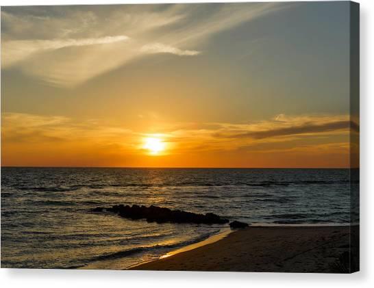 Southwest Florida Sunset Canvas Print - Caspersen Beach Sunset 1   -   Caspbch35 by Frank J Benz