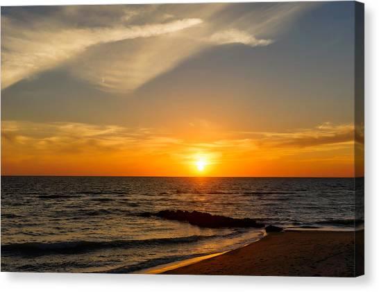 Southwest Florida Sunset Canvas Print - Caspersen Beach Sunset 2   -  Casbch45 by Frank J Benz