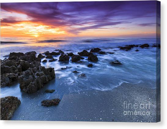 Casperson Beach Sunset 2 Canvas Print