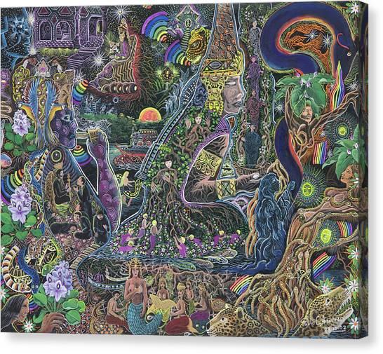 Peru Canvas Print - Caspi Maman by Pablo Amaringo
