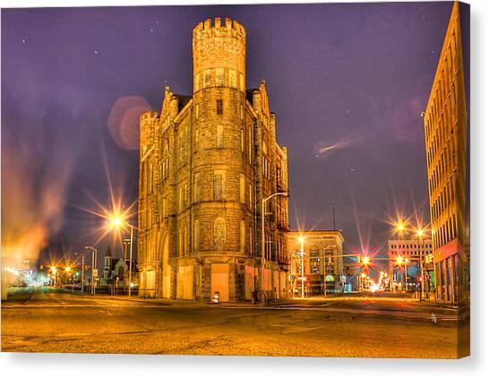 Cass Castle Detroit Mi Canvas Print