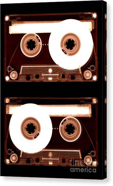 Cassette Tapes Canvas Print