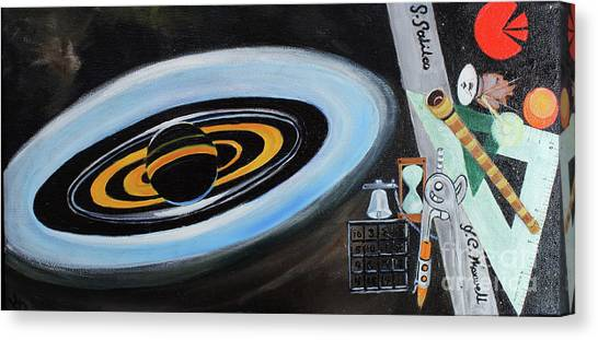 Nsa Canvas Print - Cassini Brings Home The Bacon by Katherine Fishburn