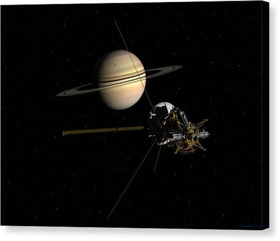 Cassini Closing In On Saturn Canvas Print