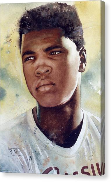 Boxing Canvas Print - Cassius Clay by Rich Marks