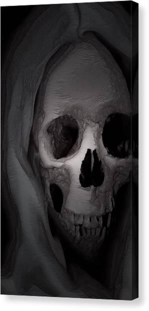Cast In Bone Canvas Print by Jean Gugliuzza