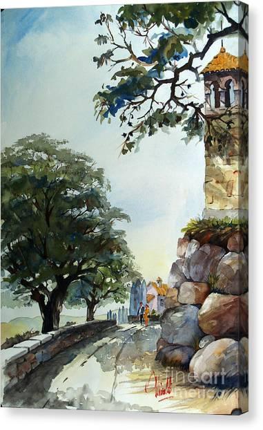 Castel At Borgo Rapale Canvas Print