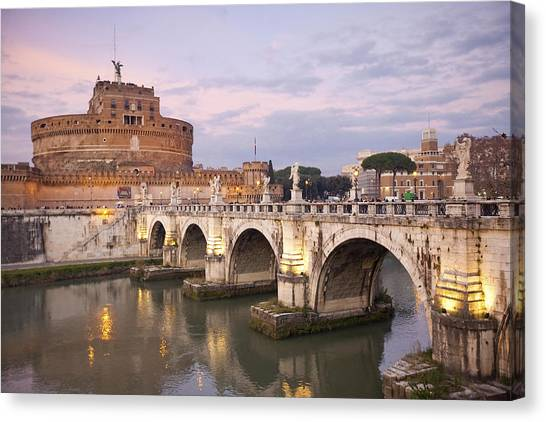 Castel Sant'angelo Canvas Print by Andre Goncalves