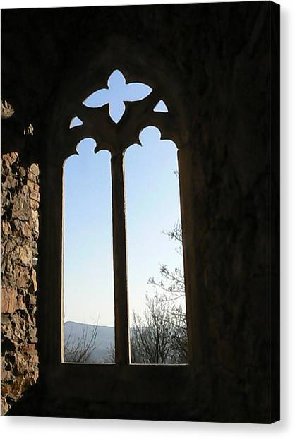 Castle  Another Window Canvas Print by Ron Hayes