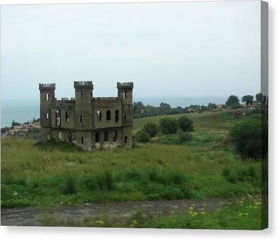 Castle Catania Sicily Canvas Print