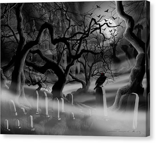 Castle Graveyard I Canvas Print