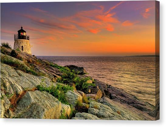 Castle Hill Lighthouse - Newport Rhode Island Canvas Print