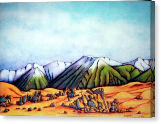 Castle Hill Si Nz Canvas Print by Barbara Stirrup