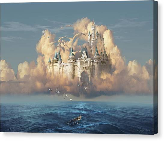Escape Canvas Print - Castle In The Sky by George Grie