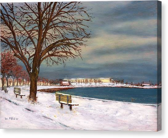 Castle Island - Winter Canvas Print