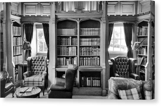 Canvas Print featuring the photograph Castle Library by Christi Kraft