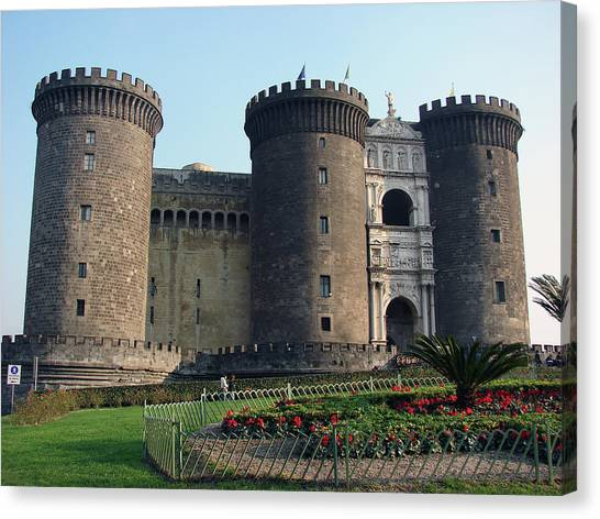 Castle Nuovo Naples Italy Canvas Print