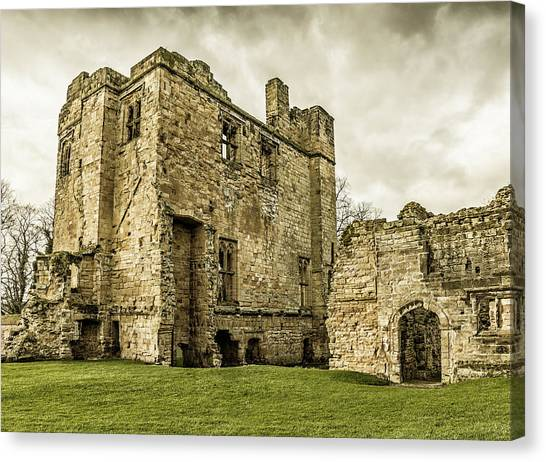 Canvas Print featuring the photograph Castle Of Ashby by Nick Bywater
