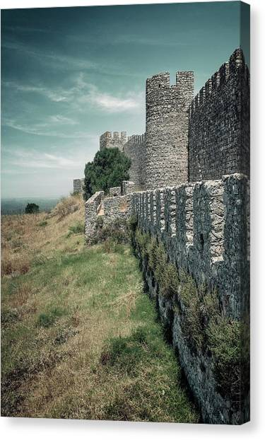 Fortification Canvas Print - Castle Of Santiago Do Cacem by Carlos Caetano