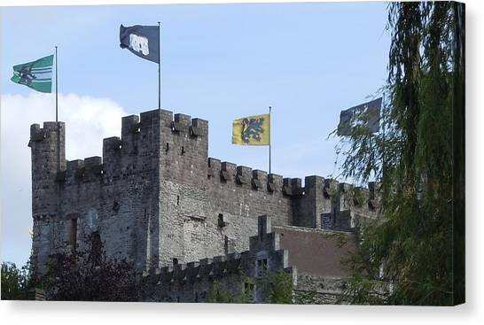 Gent Canvas Print - Castle Of The Counts Gent Belgium by Marilyn Dunlap