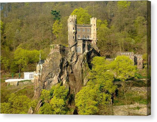 Castle On A Rock Canvas Print