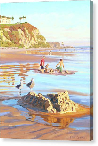 Sand Castles Canvas Print - Castle Raiders by Steve Simon