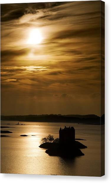 Castle Stalker At Sunset, Loch Laich Canvas Print