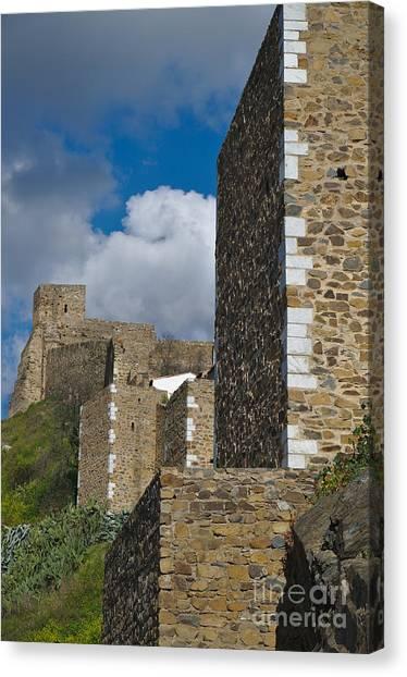 Castle Wall In Alentejo Portugal Canvas Print