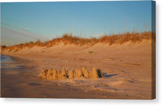 Sand Castles Canvas Print - Castles by Betsy Knapp