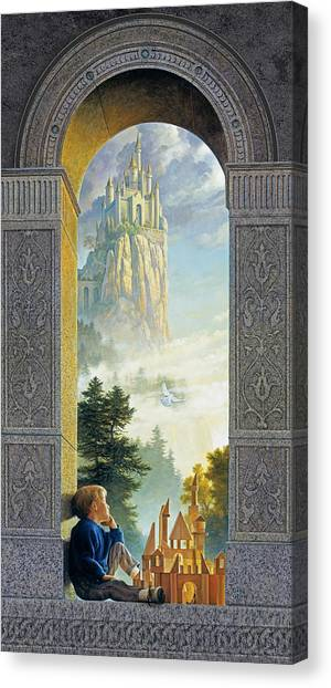 Fantasy Canvas Print - Castles In The Sky by Greg Olsen