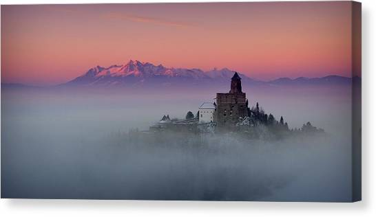 Castle Canvas Print - Castrum Liblou by Peter Mlynarcik