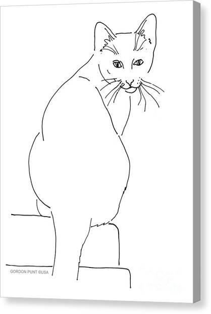 Cat-artwork-prints Canvas Print