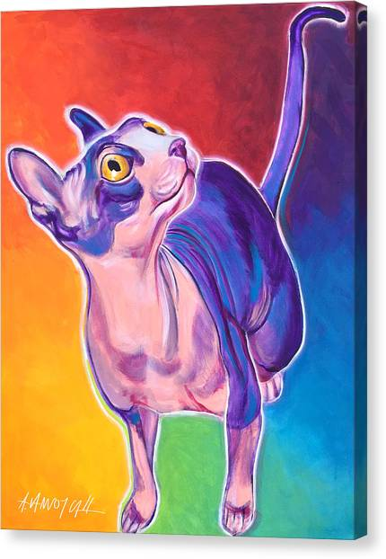 Sphynx Cats Canvas Print - Cat - Bree by Alicia VanNoy Call