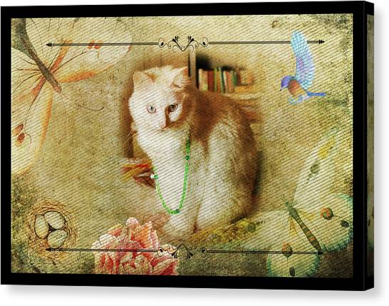Kitty Cat Composite Art II Canvas Print