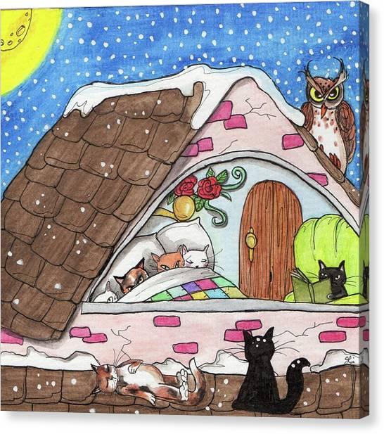 Cat Condo Canvas Print