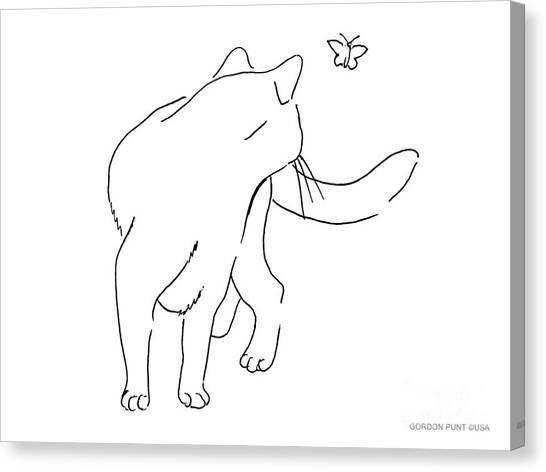 Cat-drawings-black-white-2 Canvas Print
