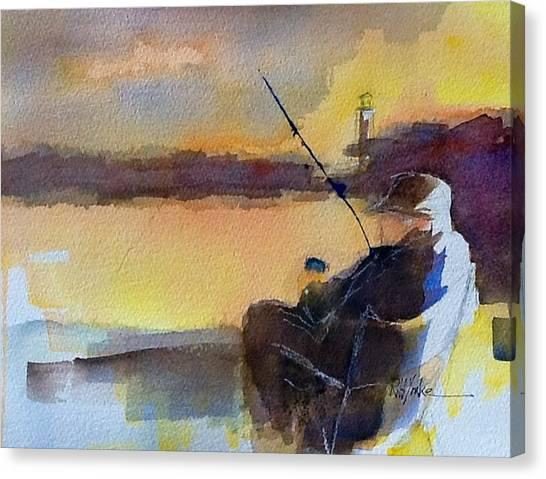 Cat Fishin'  Canvas Print by Robert Yonke