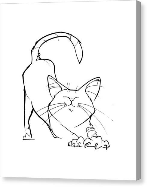 Cat Gesture Sketch Canvas Print