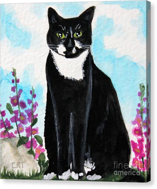 Cat In The Garden Canvas Print