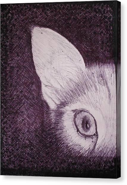 Cat Lurking Canvas Print by SAIGON De Manila