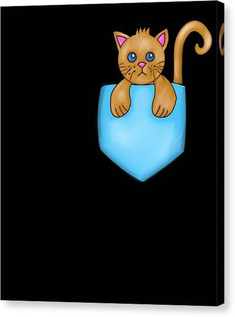 Ocicats Canvas Print - Cat Pocket Cute by Kaylin Watchorn