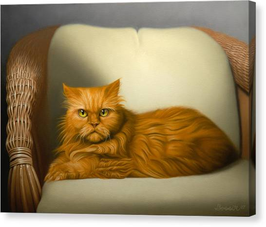 Cat Portrait Of Tosca Canvas Print by Eric Bossik